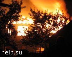 Пожар на складе резиновых шин в Екатеринбурге