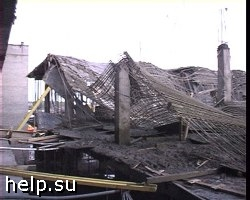 В Саратове обрушился двухэтажный дом