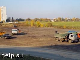 Крылатское. Акция протеста против изъятия озелененной территории под строительство автостоянки.