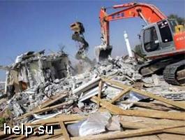 В Грозном сносят незаконные постройки
