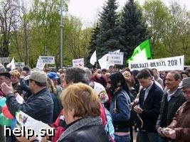 Жители района Хорошево-Мневники митинговали  против вырубки деревьев на улицах